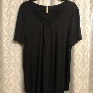 Women's plus size black shirt